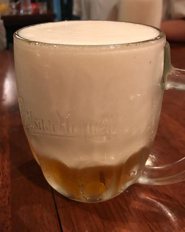 泡だらけのビール!
