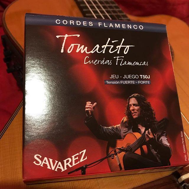 フラメンコ弦、サバレスのトマティートモデルだってヨ!パリッとしてるね!